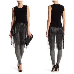 Romeo & Juliet Couture Fringe Cropped Tank NWT